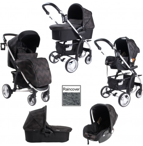 My Babiie MB109+ *Billie Faiers Collection* Travel System - Eclipse