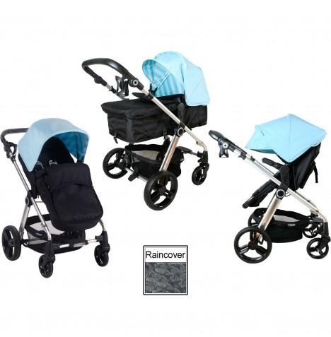 My Babiie MB150 2in1 Pram / Pushchair - Baby Blue