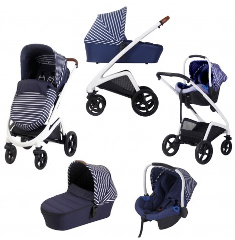 My Babiie MB300 Travel System *Sam Faiers Collection* - Blue Stripes
