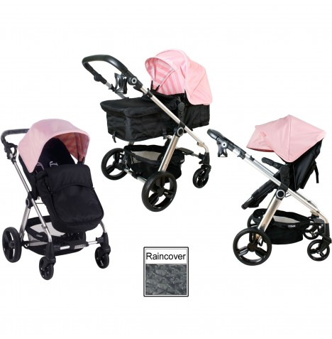 My Babiie MB150 2in1 Pram / Pushchair - Baby Pink