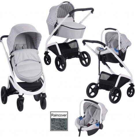 My Babiie MB300 Travel System *Sam Faiers Collection* - Grey Stripes