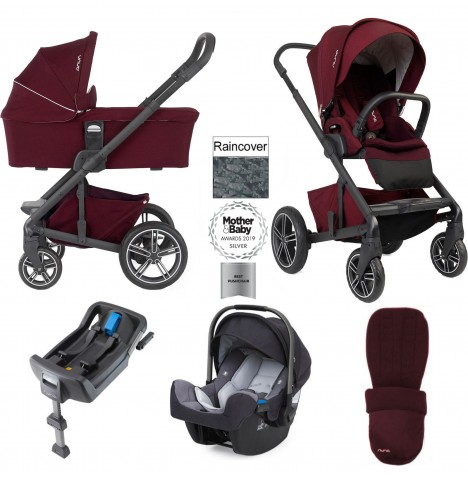 Nuna Mixx Travel System & Isofix Base - Berry