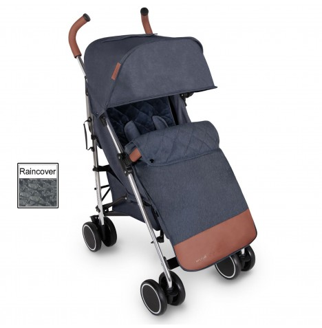 Ickle Bubba Discovery Prime Stroller - Denim Blue On Silver