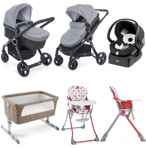 Chicco Urban Plus / Pocket Meal Everything You Need Travel System Bundle - Legend