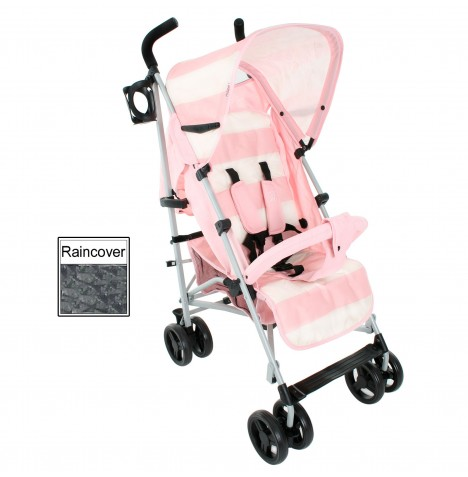 My Babiie MB01 Stroller *Billie Faiers Signature Range* - Pink Stripes