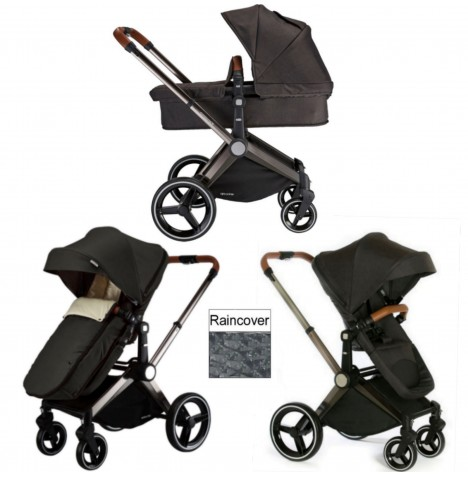 Venice Child Kangaroo 2 in 1 Pram / Pushchair - Charcoal Grey