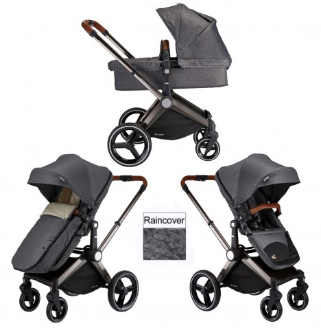 Venice Child Kangaroo 2 in 1 Pram / Pushchair - Twighlight Grey