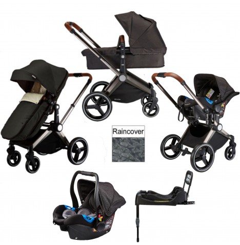 Venice Child Kangaroo 2 in 1 Travel System With Isofix Base - Charcoal