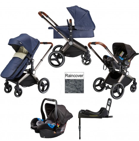 Venice Child Kangaroo 2 in 1 Travel System With Isofix Base - Denim Blue