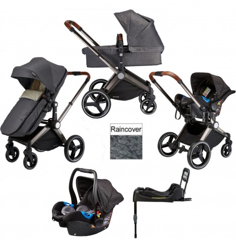 Venice Child Kangaroo 2 in 1 Travel System With Isofix Base - Twilight Grey