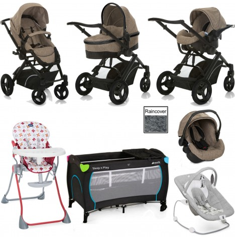 Hauck / Joie Maxan 4 Everything You Need Travel System Bundle - Melange Beige