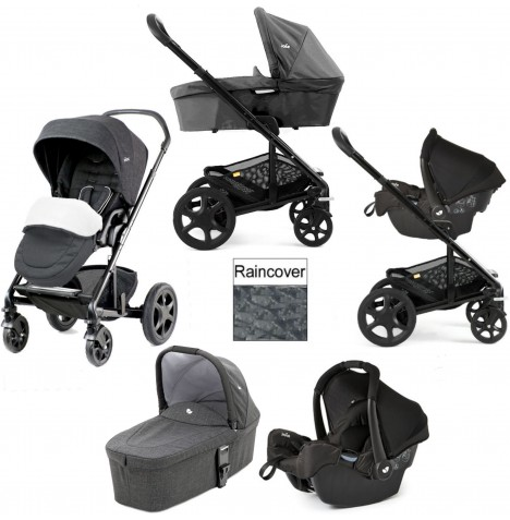 Joie Chrome DLX (Gemm) Travel System + Carrycot (inc Footmuff) - Pavement..
