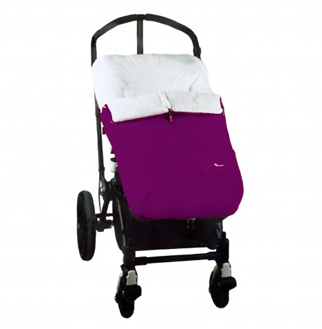 4baby Designer Plush Pushchair Polar Cocoon Footmuff - Purple