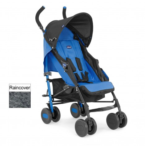 Chicco Echo Pushchair Stroller With Raincover - Power Blue..