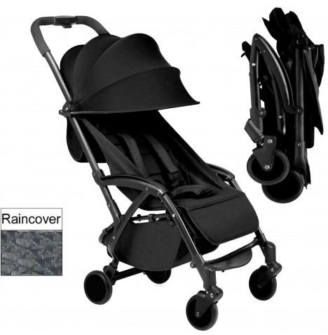 Ickle Bubba Aurora Travel Pushchair / Stroller - Black..