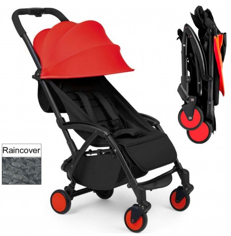 Ickle Bubba Aurora Travel Pushchair / Stroller - Red..