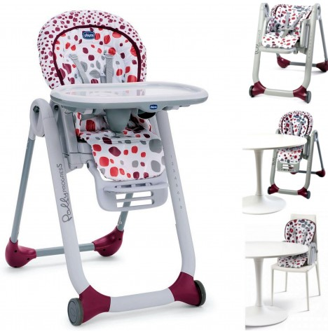 Chicco Polly Progres5 5 in 1 Highchair - Cherry..