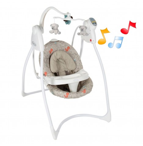 Graco Lovin Hug Baby Swing - Woodland Walk