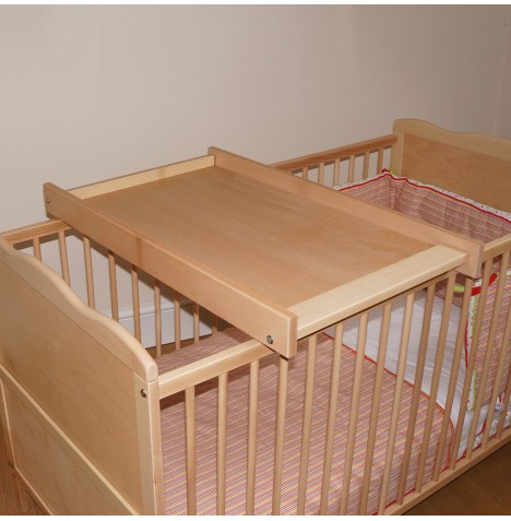 new 4baby beech wood cot cotbed top changer baby. Black Bedroom Furniture Sets. Home Design Ideas
