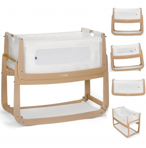Snuz SnuzPod3 Bedside Crib 3 in 1 With Mattress - Natural