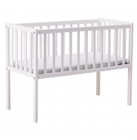 Little Acorns Classic Crib & Foam Mattress - White