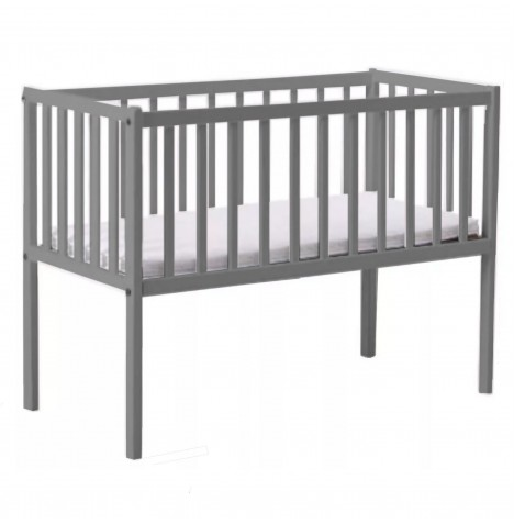 Little Acorns Classic Crib & Foam Mattress - Grey