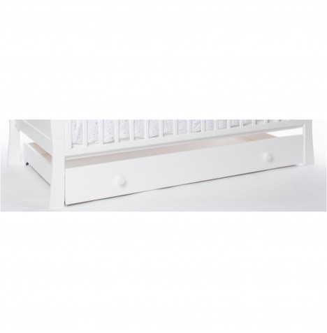Little Acorns Large Under Bed Rollaway Drawer - White