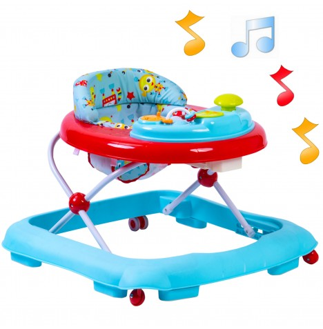Red Kite Musical Baby Go Round Jive Walker - Robot Blue