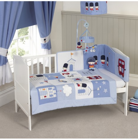 4Baby Designer 3 Piece Cot Bed Bedding Set - Night Night Soldier