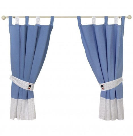 4Baby Designer Curtains & Tie Backs - Night Night Soldier