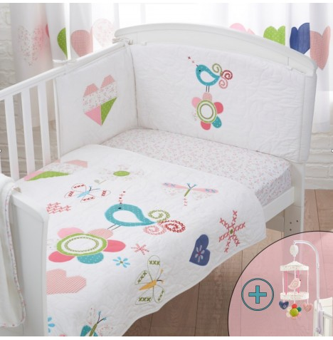 4Baby 4 Piece Nursery Set - Doodles