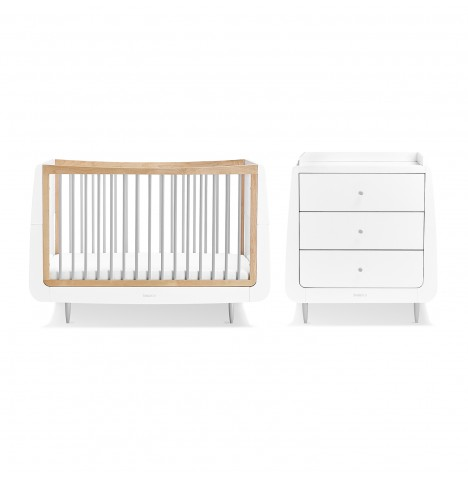 Snuz SnuzKot Skandi 3 Piece Nursery Furniture Room Set - Grey