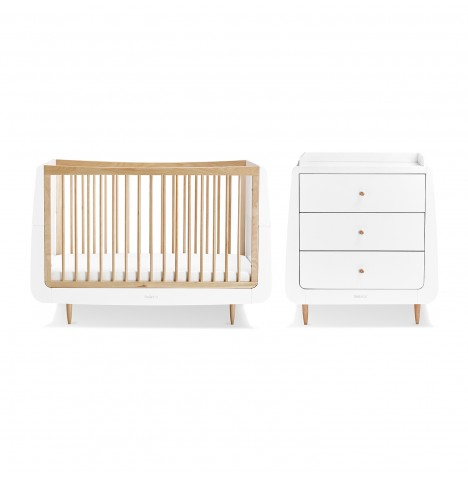 Snuz SnuzKot Skandi 3 Piece Nursery Furniture Room Set - Natural