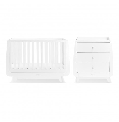 Snuz SnuzKot Luxe 3 Piece Nursery Furniture Room Set - White
