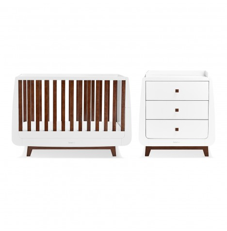 Snuz SnuzKot Luxe 3 Piece Nursery Furniture Room Set - Espresso
