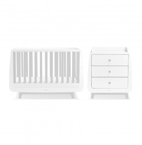 Snuz SnuzKot Luxe 3 Piece Nursery Furniture Room Set - Grey