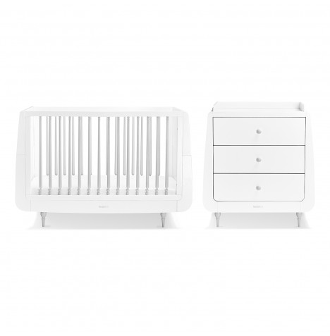 Snuz SnuzKot Rococo 3 Piece Nursery Furniture Room Set - Grey