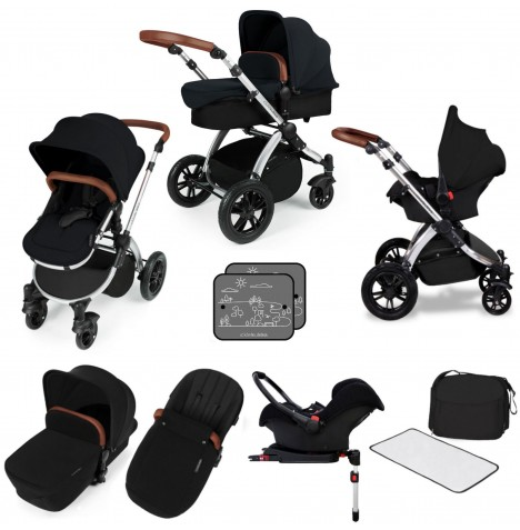 Ickle bubba Stomp V3 Silver All In One Travel System & Isofix Base - Black