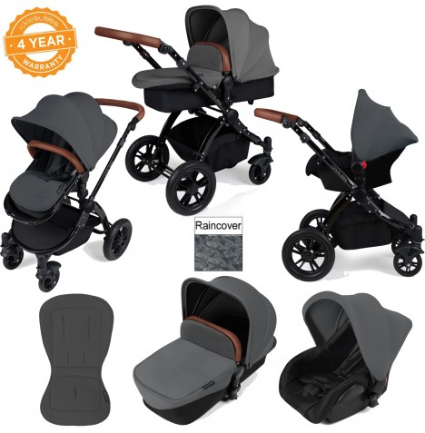 ickle bubba Stomp V2 Black 3 in 1 Travel System - Graphite Grey