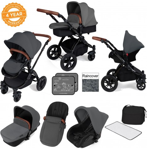 ickle bubba Stomp V2 Black All In One Travel System - Graphite Grey