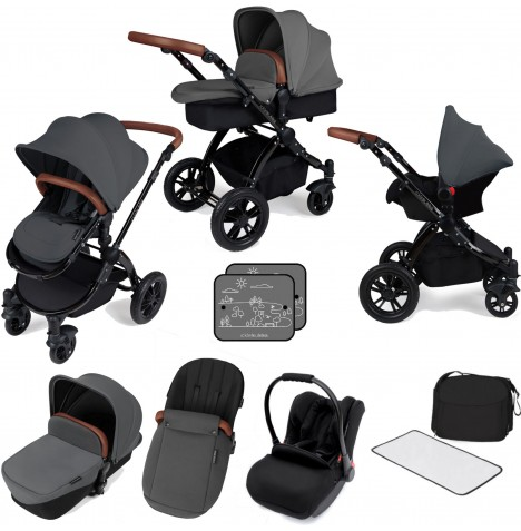 Ickle bubba Stomp V3 Black All In One Travel System - Graphite Grey