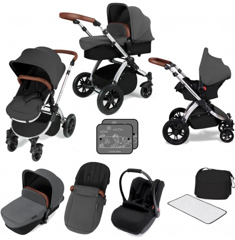 Ickle bubba Stomp V3 Silver All In One Travel System - Graphite Grey