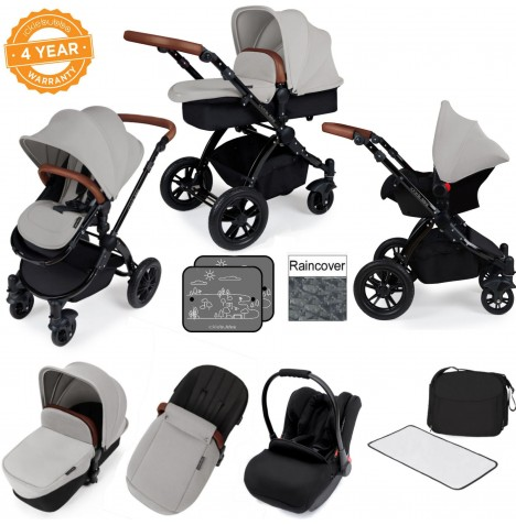 Ickle bubba Stomp V3 Black All In One Travel System - Silver