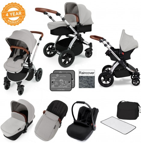 Ickle bubba Stomp V3 Silver All In One Travel System - Silver