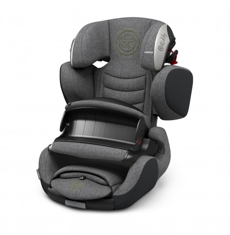 Kiddy Guardianfix 3 Group 1,2,3 Isofix Car Seat - Grey Melange / Super Green