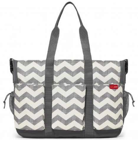 Skip Hop Duo Double Signature Changing Bag - Grey / Chevron
