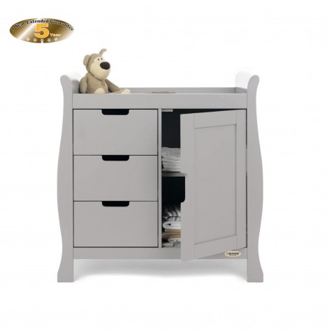 Obaby Closed Stamford Changing Unit - Warm Grey