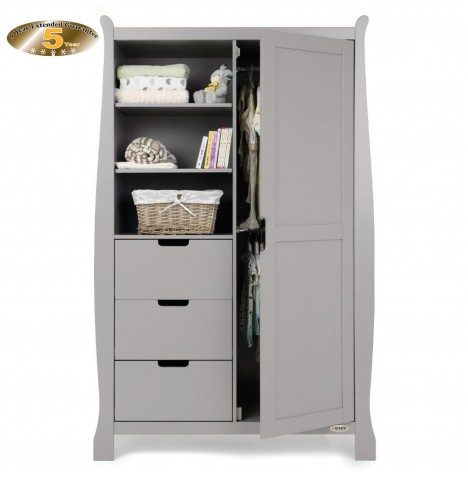 Obaby Stamford Wardrobe - Warm Grey