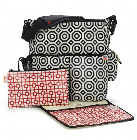 Skip Hop Jonathan Adler Duo Changing Bag - Black Nixon