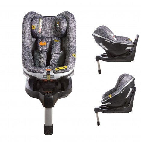 Cosatto Den i-Size Group 0+ / 1 Isofix Car Seat with Base - Grey Dawn Chorus